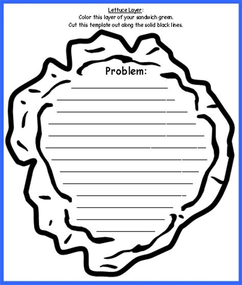 Hamburger template for book report